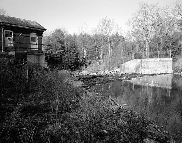 Former dam site