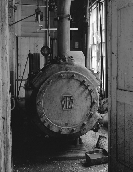Mill interior, boiler detail