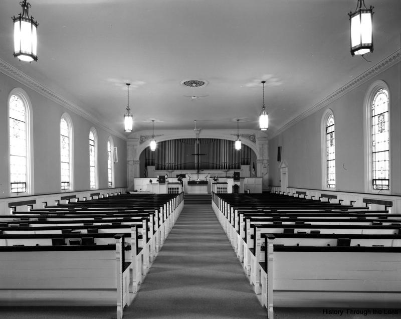 First Calvary Church-interior view toward pulpit