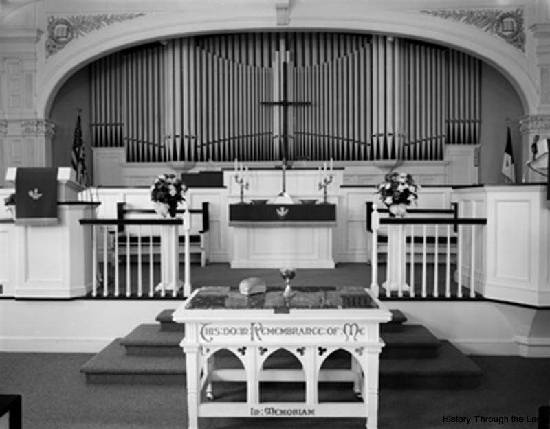 First Calvary Church-pulpit detail
