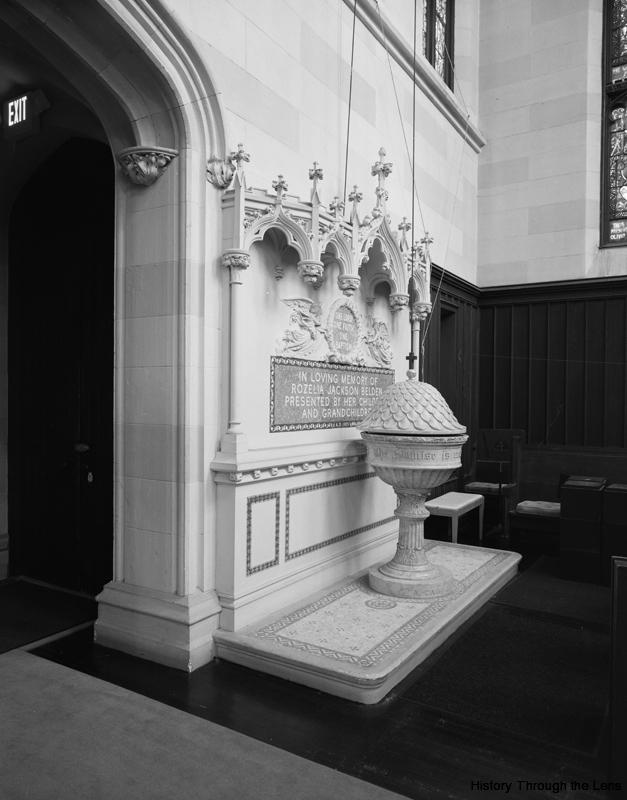 First Presbyterian Church-baptismal fount